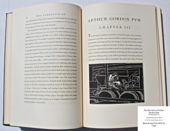 The Narrative of Arthur Gordon Pym, Limited Editions Club, Sample Illustration #1 with Text