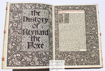 Reynard the Foxe, The Kelmscott Press, Title Page and Sample Text #2